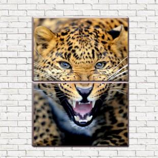 "Модульная картина ""Леопард 2-3"""