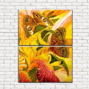 """Модульная картина """"Бабочки 2-3"""""""