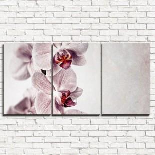 """Модульная картина """"Бежевые цветы 3-1"""""""