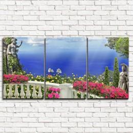 """Модульная картина """"Греческий балкон 3-1"""""""