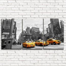 "Модульная картина ""Улица Нью-Йорка 3-1"""