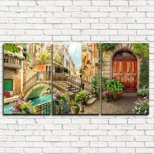"""Модульная картина """"Старинный мост в Венеции 3-1"""""""