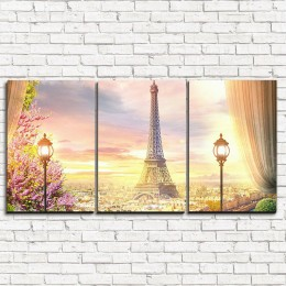 """Модульная картина """"Парижское великолепие 3-1"""""""