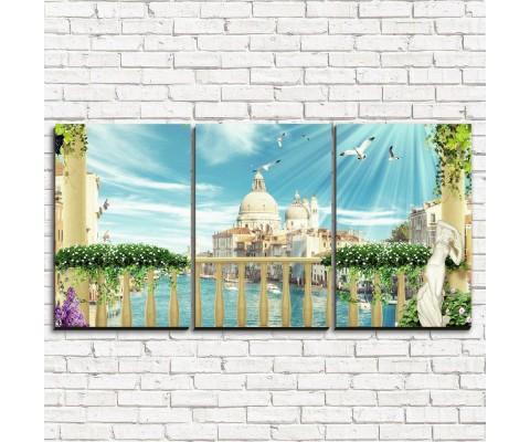 """Модульная картина """"Венецианское великолепие 3-1"""""""