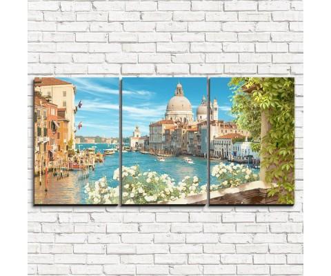 """Модульная картина """"Балкон в Венеции 3-1"""""""