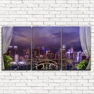 """Модульная картина """"Балкон в Нью-Йорке 3-1"""""""
