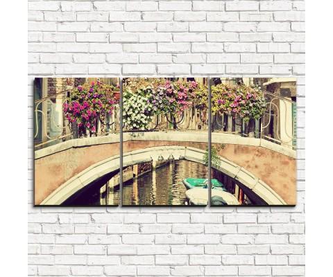 """Модульная картина """"Венецианский мост 3-1"""""""
