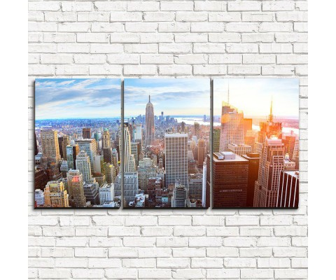 """Модульная картина """"Закат в Нью-Йорке 3-1"""""""