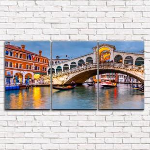 """Модульная картина """"Мост в Венеции 3-1"""""""
