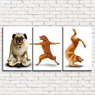 """Модульная картина """"Смешные собаки 3-1"""""""