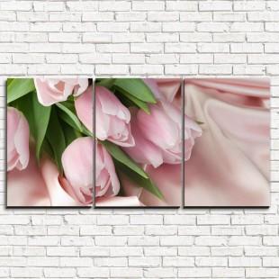 """Модульная картина """"Нежнейшие тюльпаны 3-1"""""""