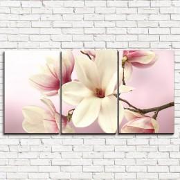 """Модульная картина """"Нежные розовые цветы 3-1"""""""