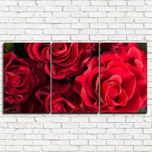 """Модульная картина """"Волнистые розы 3-1"""""""