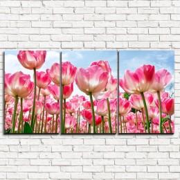 """Модульная картина """"Высокие тюльпаны 3-1"""""""