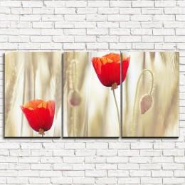 """Модульная картина """"Два тюльпана 3-1"""""""