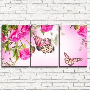 """Модульная картина """"Бабочки у воды 3-1"""""""