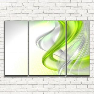 """Модульная картина """"Зеленая абстракция 3-2"""""""