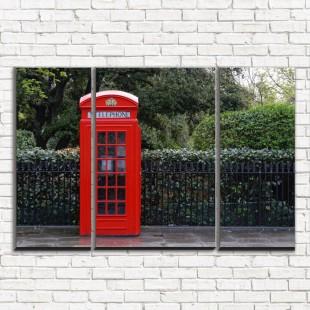 "Модульная картина ""Телефон у парка 3-2"""
