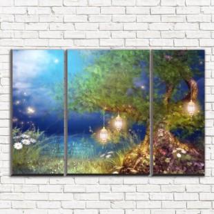 """Модульная картина """"Волшебный лес 3-2"""""""