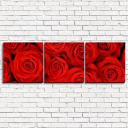 """Модульная картина """"Красные розы 3-3"""""""
