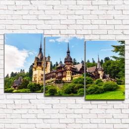 """Модульная картина """"Замок в Румынии 3-4"""""""