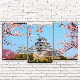"""Модульная картина """"Японский замок 3-5"""""""