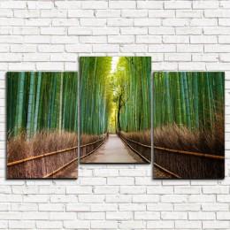 "Модульная картина ""Бамбуковый лес 3-5"""