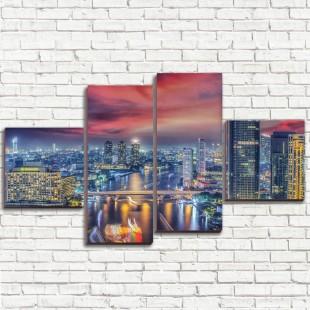 """Модульная картина """"Бангкок 4"""""""