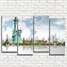 """Модульная картина """"Нью-Йорк Статуя свободы 4-2"""""""
