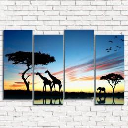 "Модульная картина ""Сафари в Африке 4-2"""