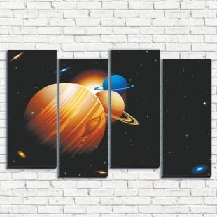 """Модульная картина """"Планеты солнечной системы 4-2"""""""