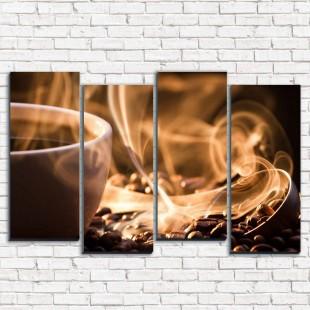 """Модульная картина """"Ароматный кофе 4-2"""""""