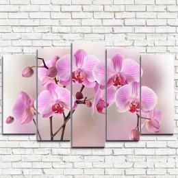 """Модульная картина """"Арка из орхидей 5"""""""