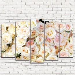"Модульная картина ""Нежные цветы 5"""