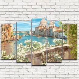 """Модульная картина """"Балкон в Венеции 5"""""""