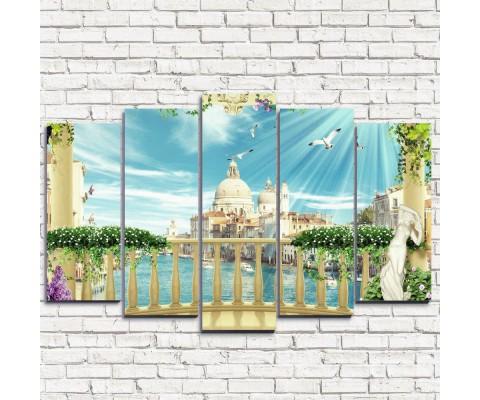 """Модульная картина """"Венецианское великолепие 5"""""""