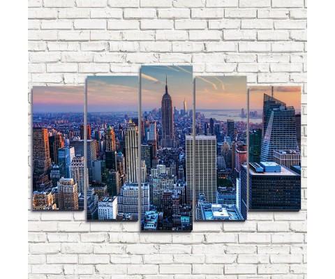 "Модульная картина ""Вечерний Нью-Йорк 5"""