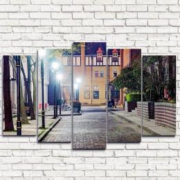 """Модульная картина """"Вечерняя улица 5"""""""