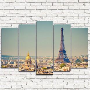 """Модульная картина """"Вид на Париж 5"""""""
