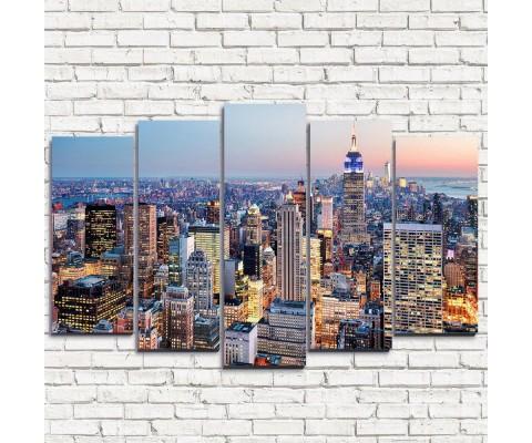 """Модульная картина """"Жизнь в Нью-Йорке 5"""""""