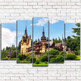 """Модульная картина """"Замок в Румынии 5"""""""