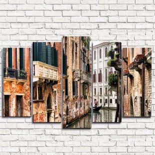 """Модульная картина """"Канал в Венеции 5"""""""
