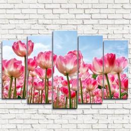 """Модульная картина """"Высокие тюльпаны 5"""""""