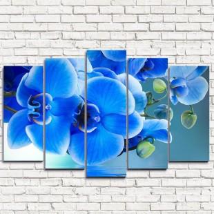 """Модульная картина """"Голубая орхидея 5"""""""