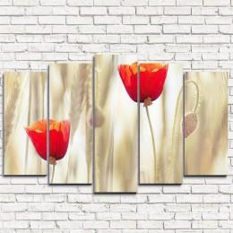 """Модульная картина """"Два тюльпана 5"""""""