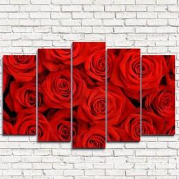 """Модульная картина """"Красные розы 5"""""""