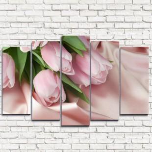 """Модульная картина """"Нежнейшие тюльпаны 5"""""""