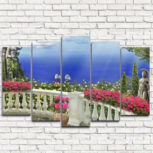 """Модульная картина """"Греческий балкон 5"""""""