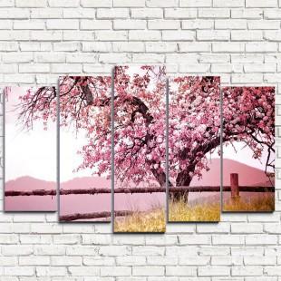 """Модульная картина """"Красивейшее дерево 5"""""""