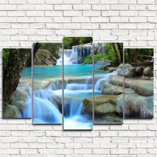 """Модульная картина """"Лесной водопад 5"""""""